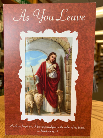 As You Leave Greeting Card