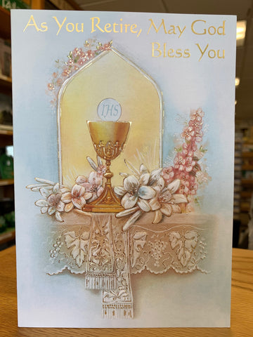 As You Retire, May God Bless You Greeting Card