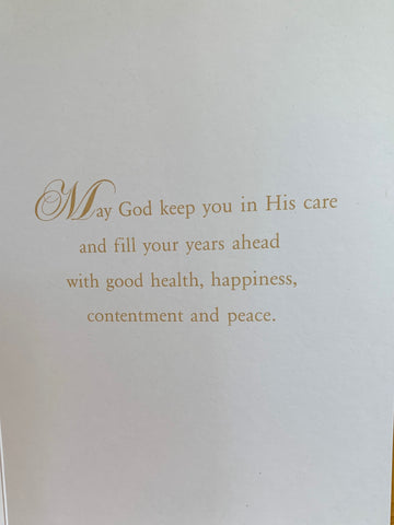 God's Blessings as You Retire Greeting Card