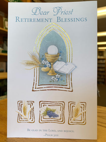 Dear Priest Retirement Blessings Greeting Card