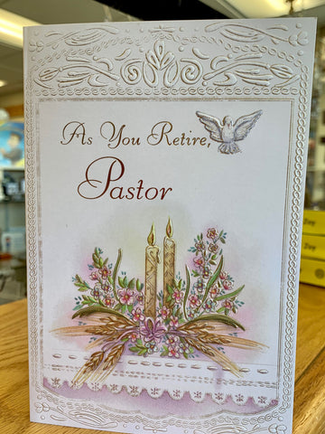 As You Retire, Pastor Greeting Card