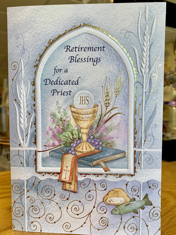 Retirement Blessings for a Dedicated Priest Greeting Card