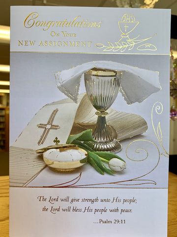 Congratulations on Your New Assignment (Priest) Greeting Card