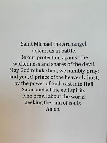 Saint Michael the Archangel Greeting Card