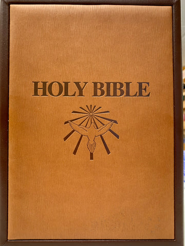 Holy Bible Case - Brown and Tan Leather