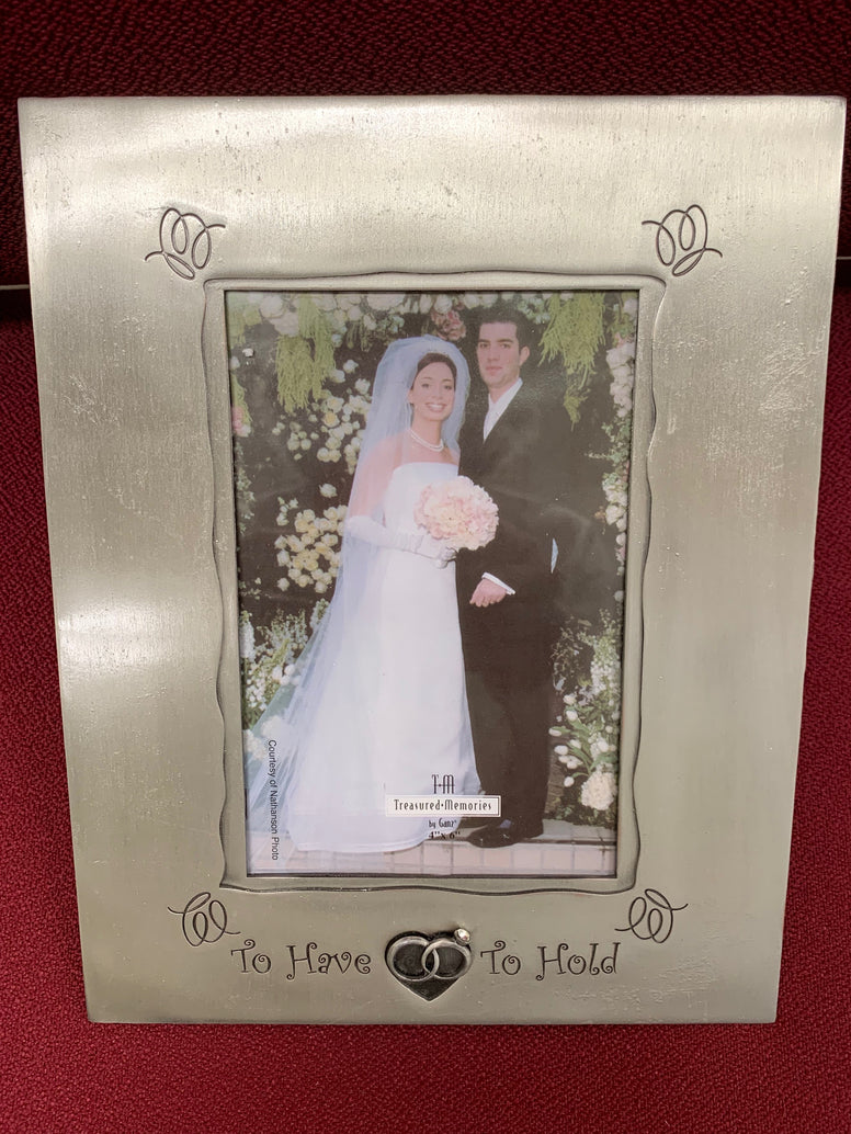 To Have To Hold Entwined Rings Wedding Frame