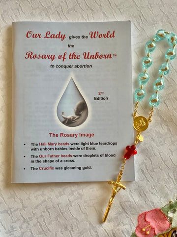 Small Rosary of the Unborn with Prayer Booklet