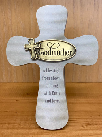 GODMOTHER BLESSING FROM ABOVE CROSS W/EASEL & HANGER