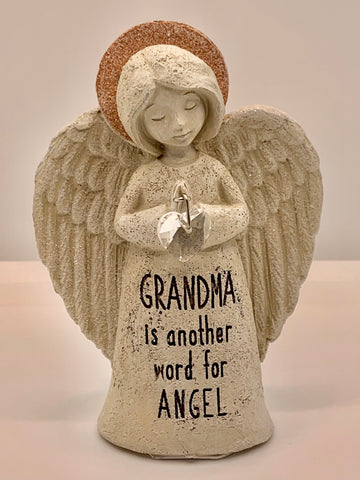 Inspirational Sparkle Angel Statue - GRANDMA  is another word for ANGEL