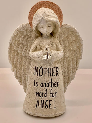 Inspirational Sparkle Angel Statue - MOTHER is another word for ANGEL