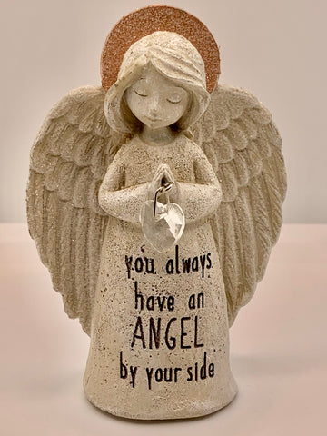 Inspirational Sparkle Angel Statue - you always have an ANGEL by your side