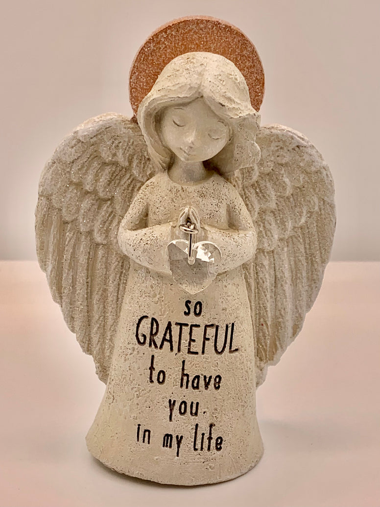 Inspirational Sparkle Angel Statue - so GRATEFUL to have you in my life