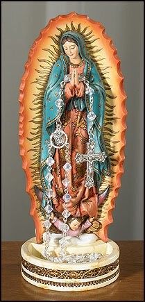"8"" Our Lady of Guadalupe Rosary Holder"
