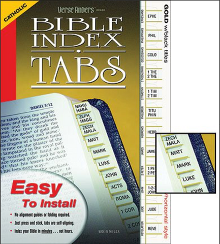 Catholic Verse Finders Bible Index Tabs