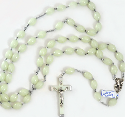 "Large Glow-in-the-Dark Luminous Rosary, 30"" Long"