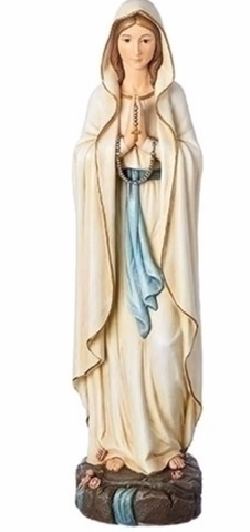 "17""H OUR LADY OF LOURDES GARDEN STATUE"