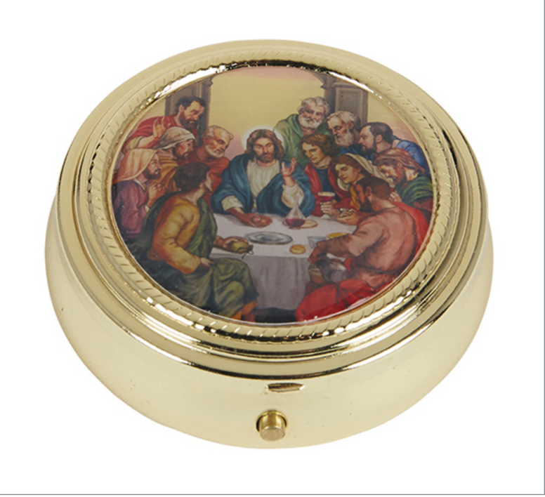 Last Supper Pyx With Epoxy Lid