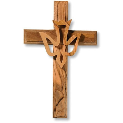 Holy Spirit Olive Wood Wall Cross