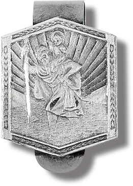 SAINT CHRISTOPHER SHIELD AUTO VISOR CLIP