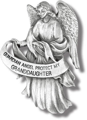 GUARDIAN ANGEL PROTECT MY GRANDDAUGHTER AUTO VISOR CLIP