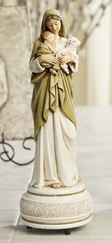 "9"" Innocence Musical Figurine Statue, Plays Brahms' Lullaby"