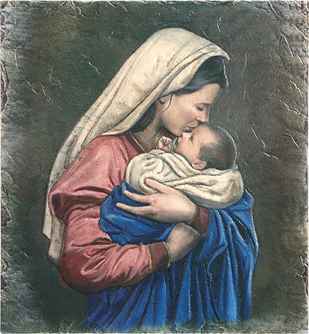 Mother's Kiss, Tile Plaque