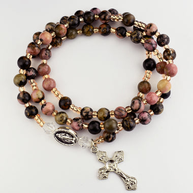 Rhodonite Twistable Rosary Bracelet