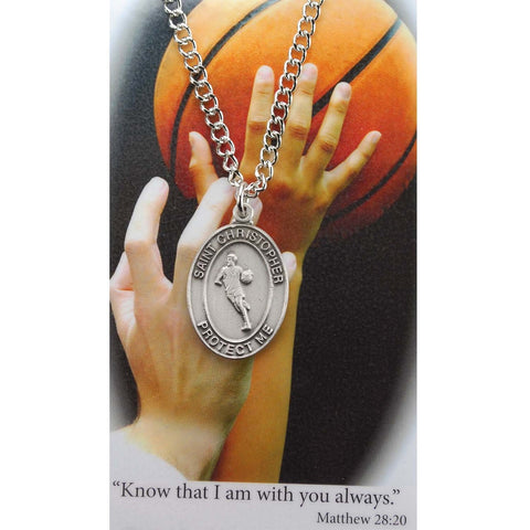 BOYS BASKETBALL  MEDAL & PRAYER CARD SET