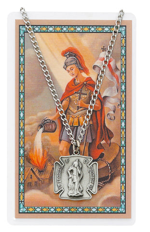 St. Florian Medal and Prayer Card Set