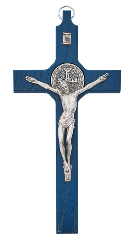 "8"" Blue St. Benedict Crucifix"
