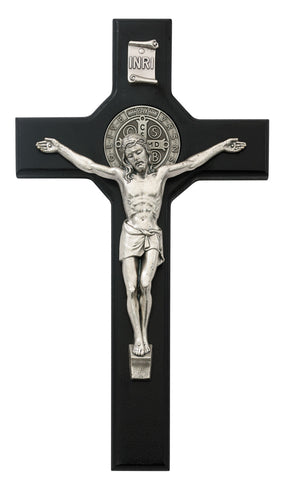 "10.5"" Black St. Benedict Crucifix"