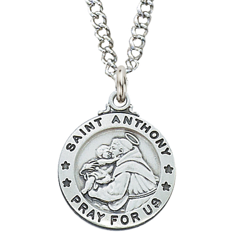"(L600AN) SS St. Anthony Medal, 20"" chain"