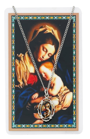 MOTHER & CHILD PRAYER CARD & PENDANT