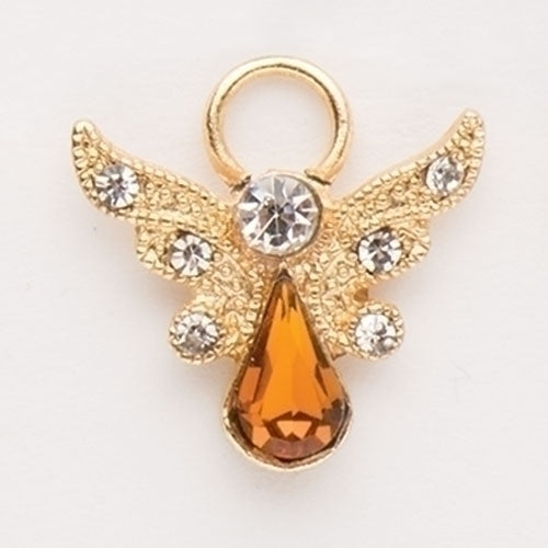 Birthstone Angel Pin with Wings, November