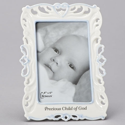 Precious Child of God Photo Frame, Boy, Porcelain