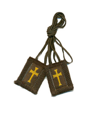 Crusader Brown Cord Scapular