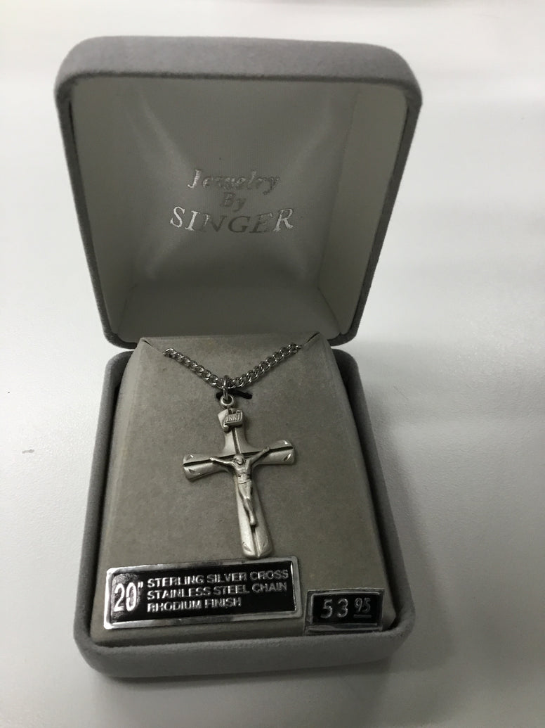 Flare Engraved Crucifix