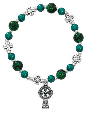 Green Celtic Stretch Bracelet