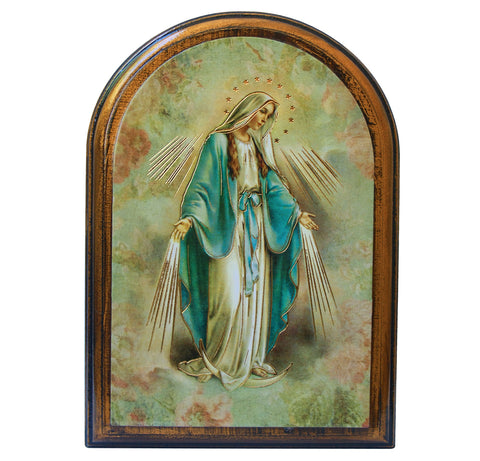 Our Lady of Grace wooden plaque