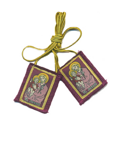 Purple Saint Joseph Wool Scapular