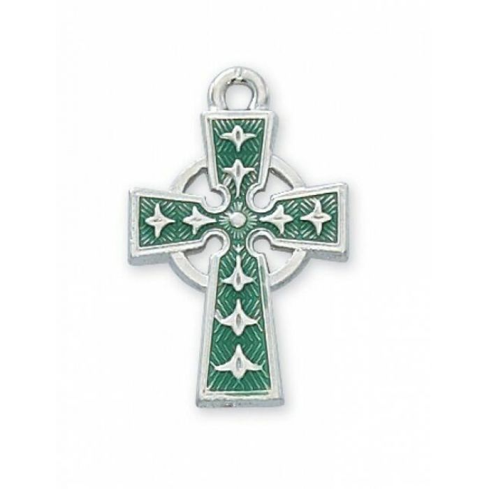 "RF enamel Celtic Cross 18"" chain"