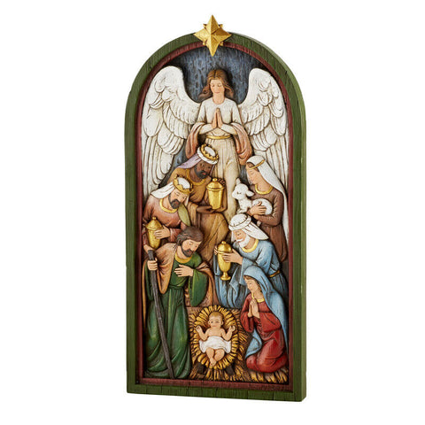 "14"" Nativity Plaque"