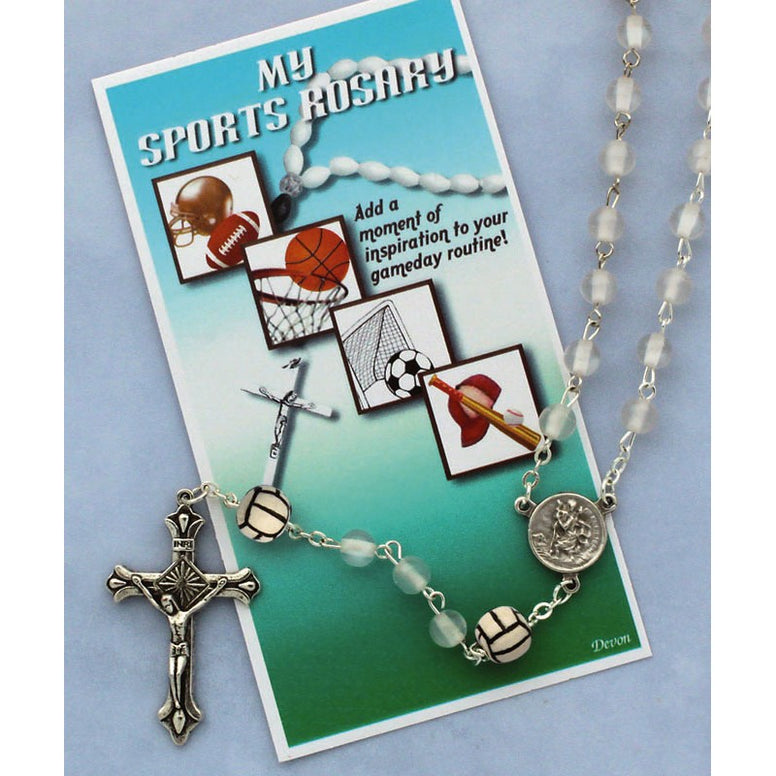My Sports Rosary, Volleyball, White