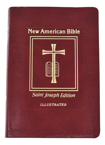 St. Joseph New American Bible, Bonded Leather, Red medium