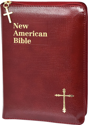 St. Joseph Edition of the New American Bible, Revised Edition, Burgundy Bound Leather, Zipper Closed
