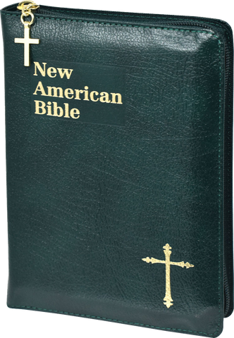 St Joseph Edition of the New American Bible Revised Edition, Green Bonded Leather, Zipper Close