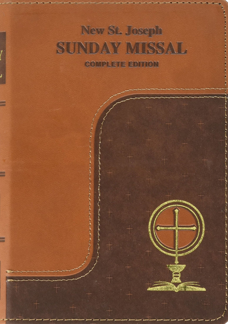 New St. Joseph Sunday Missal - Complete Edition - Two-Toned Brown - Boxed