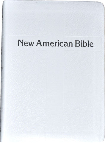 St. Joseph Edition of the New American Bible - Revised Edition - White Leather silver edges