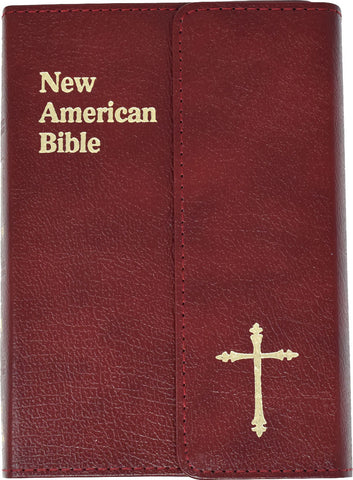 St. Joseph Edition of the New American Bible - Revised Edition - Burgundy Leather magnetic flap