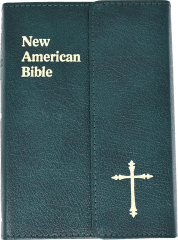 St. Joseph Edition of the New American Bible - Revised Edition - Green Leather magnetic flap